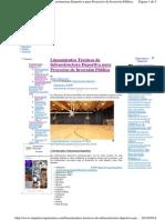 Lineamientos Tecnicos de Infraestructura de Losas Multideportivas