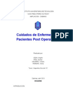 Cuidados de Enfermeria en Pacientes Post operatorios.doc