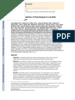 First-Trimester Prediction of Preeclampsia in Low-Risk