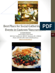 Best Place for Social Gatherings and Events in Gastown Vancouver British Columbia