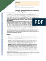 The Utility of Uterine Artery Doppler Velocimetry in Prediction of Preeclampsia in a Low-Risk Population