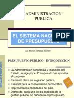 Sistemasistema nacional de presupuesto Nacional de Presupuesto