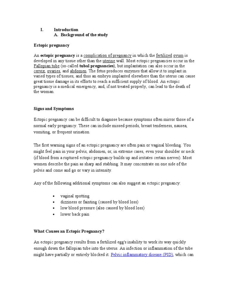 Introduction Ectopic | Human Chorionic Gonadotropin | Pregnancy