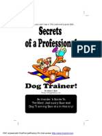 Secrets Book of a Professional Dog Trainer