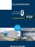 Infobrochure en Opleidingskalender - 1° semester 2010