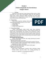 Modul 1 Radiasi Elektromagnetik Dan Interaksinya Dengan Materi