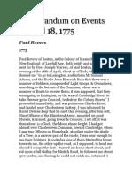 paul revere primary document