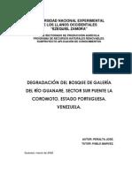 Degradación Del Bosque de Galería Del Río Guanare