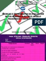 Tecnicas e instrumentos para la evaluación de los aprendizajes