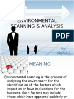 Environmental Scanning & Analysis