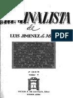 El Criminalísta. Defensa Social