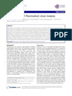 The Anaemia OfPlasmodium Vivaxmalaria