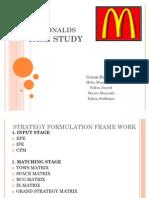 Strategic Management Mcdonalds