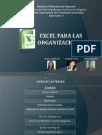 Excel Para Las Organizaciones