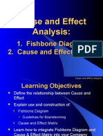 Cause and Effect Analysis - how it is work out