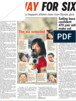 Singapore sets up Olympic Pathway Programme to boost medal chances, 15 May 2009, Straits Times