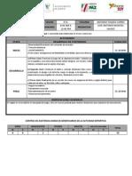 Plan Semanal 28 de Julio Al 01 de Agosto 2014