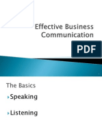 Effective Business Communication (Listening)