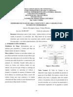 MEDIDORES DE FLUJO DE AREA CONSTANTE Y AREA VARIABLE PARA  FLUIDOS INCOMPRESIBLES
