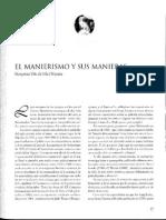 EL MANIERISMO Y SUS MANIERAS