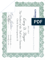 student of the semester certificate