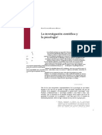 La Investigacion Cientifica y La Psicologia