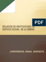 relacin de instituciones de servicio social