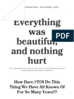 Everything Was Beautiful, And Nothing Hurt — How Dare #TOI Do This Thing We Have All Known of for So Many Years_