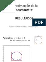 Aproximacion de la constante pi