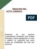 Confirmacion Del Acto Juridico