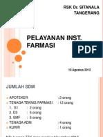 Pelayanan Inst Farmasi 2012