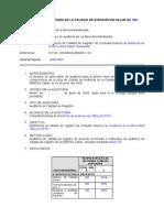 Informe de Auditoria de La Calidad de Atencion - Junio 2013