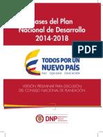 Bases Plan Nacional de Desarrollo 2014-2018
