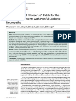 Clinical Trial of Nitrosense® Patch for the Treatment of Patients with Painful Diabetic Neuropathy