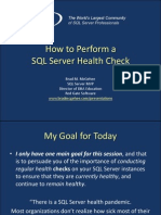 How to Perform a SQL Server Health Check SQLConnections