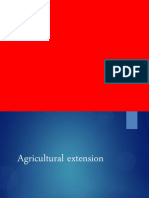 Agricultural Extension Ppt