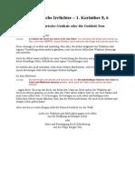 Trinitarische Irrlichter - 1 Korinther 8-6