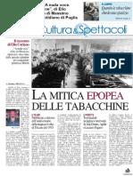 """27 Novembre 2014 - """"A nuda voce. Canto per le tabacchine"""", di Elio Coriano. Recensione di Massimo Melillo su Nuovo Quotidiano di Puglia"""