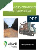 Otimizacao Dos Custos de Transporte de Madeira e Estradas Florestais