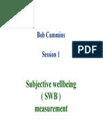 Cummings Workshop - Subjective Wellbeing (SWB) Measurement