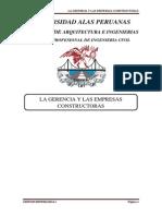La Gerencia y Las Empresas Constructoras