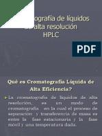 Cromatografa de Liquidos de Alta Resolucin
