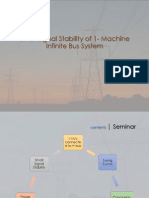 Small Signal Stability of 1- Machine Infinite Bus