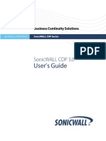 Sonicwall CDP 3.0 Users Guide