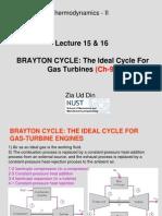 Lec 15 16_Ch 9 BRAYTON Turbine