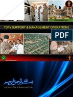 Pak Army's TDP Support & Management Operations