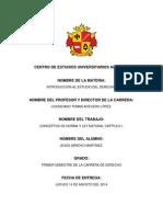 CONCEPTOS DE NORMA Y LEY NATURAL CAPÍTULO I.