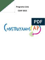Programa Lista C - Construyamos AP. CEAP 2015.