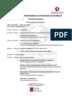 9a II Congreso Internacional Estudios Electorales Perú 2014 Programa