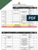 jadual kerja unit penilaian 2015